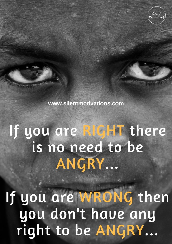 No reason for Being Angry