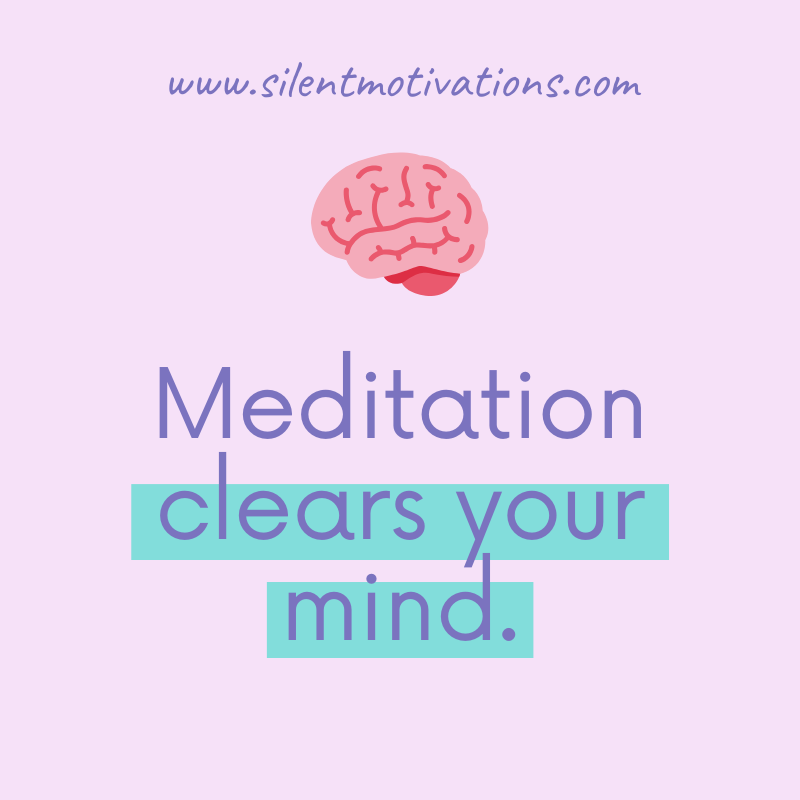 meditation clears mind