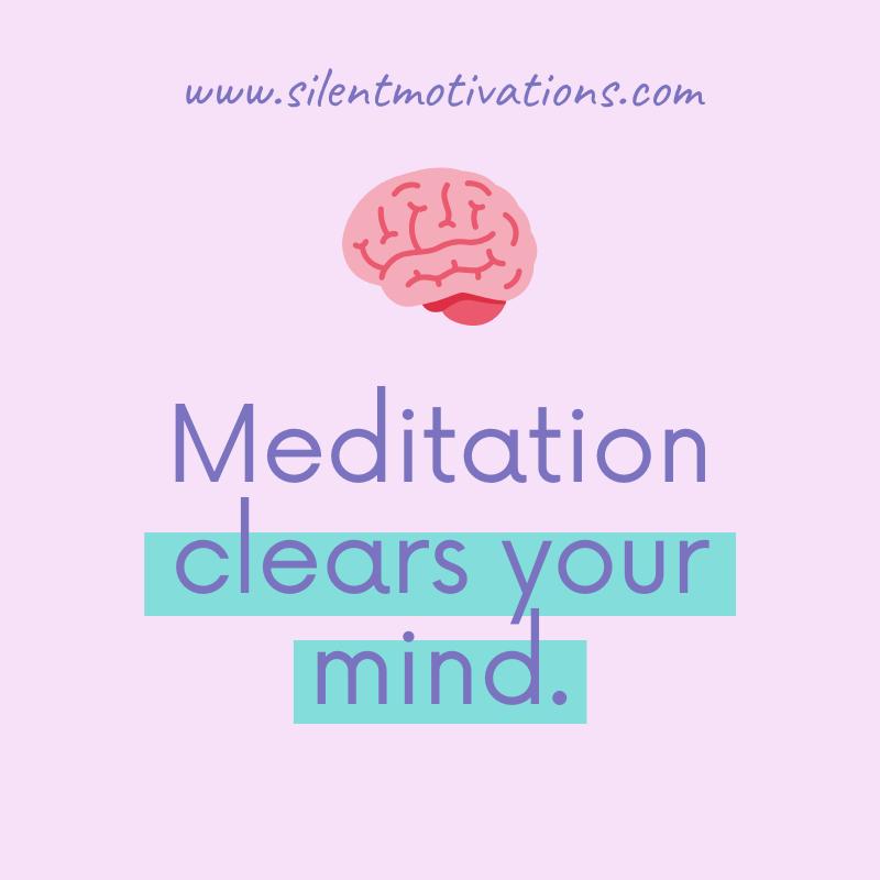 meditation clears mind