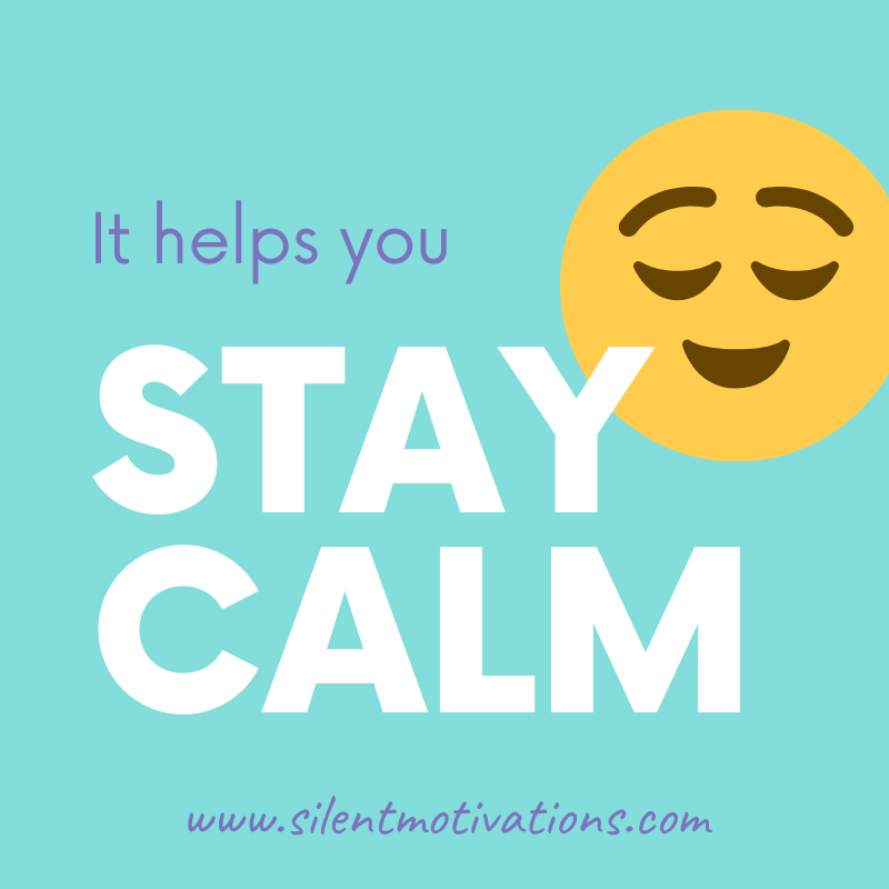 meditation helps to stay calm
