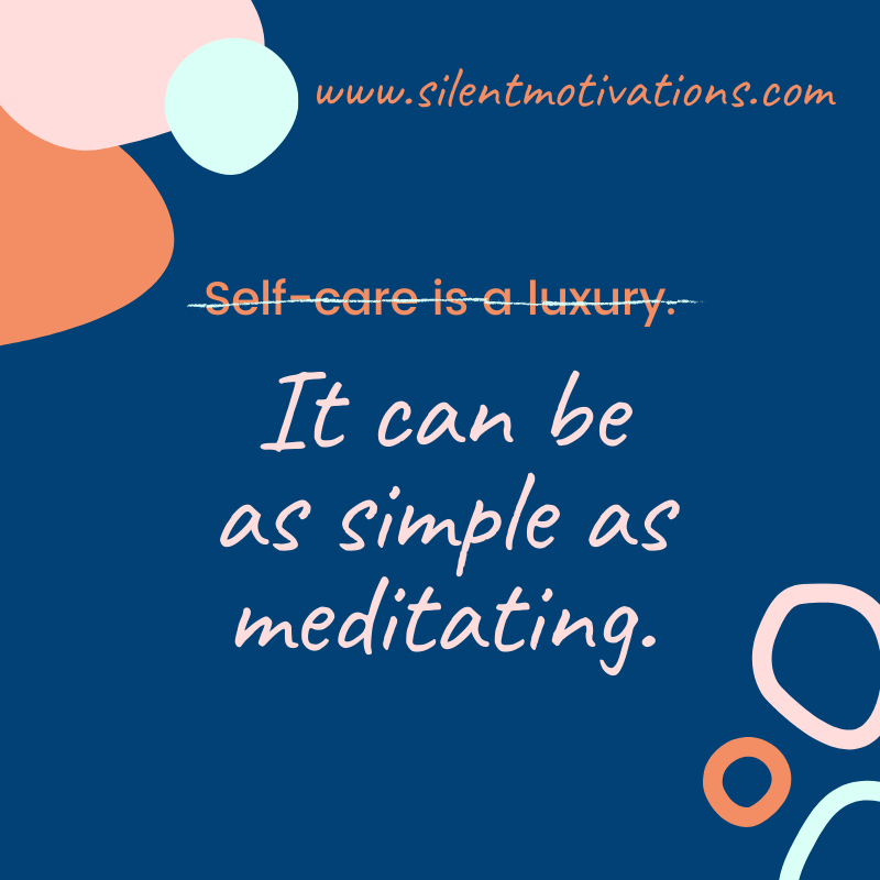 self-care and simplicity