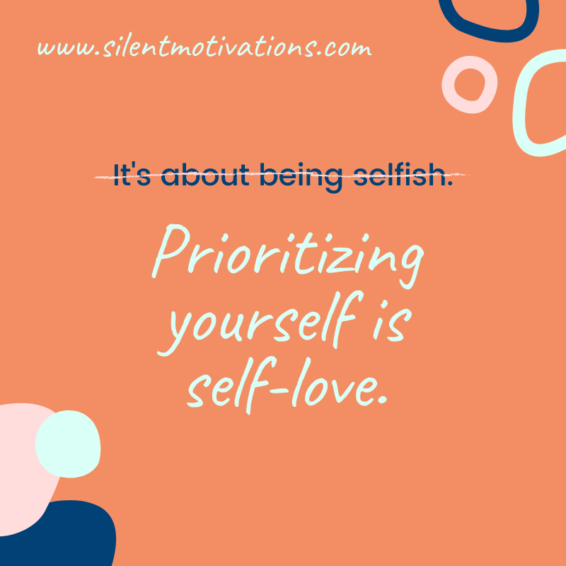 self-love or selfish