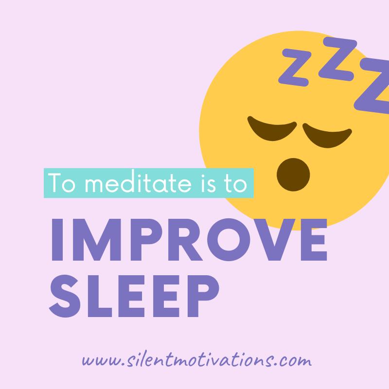 meditation improves sleep